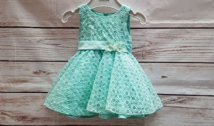 Girls Infant Green Sequin Occasion Bridesmaid Party Dress